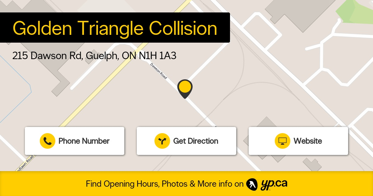 Golden triangle collision opening hours 215 dawson rd guelph on